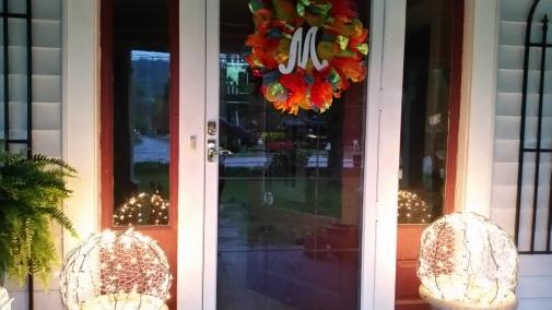 Before - original front door/sidelights color