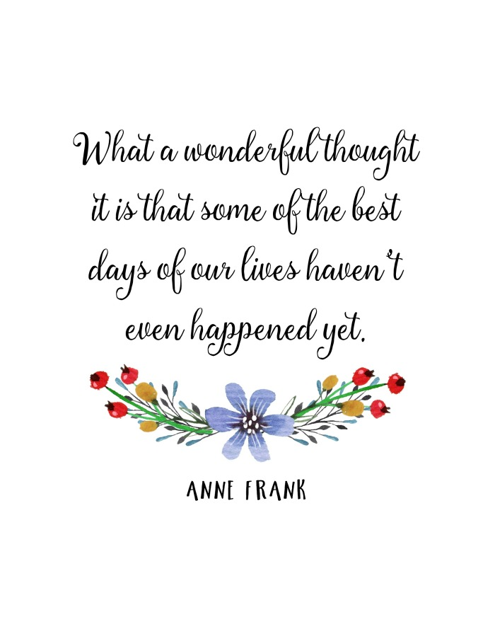 anne frank quote free printble what a wonderful thought